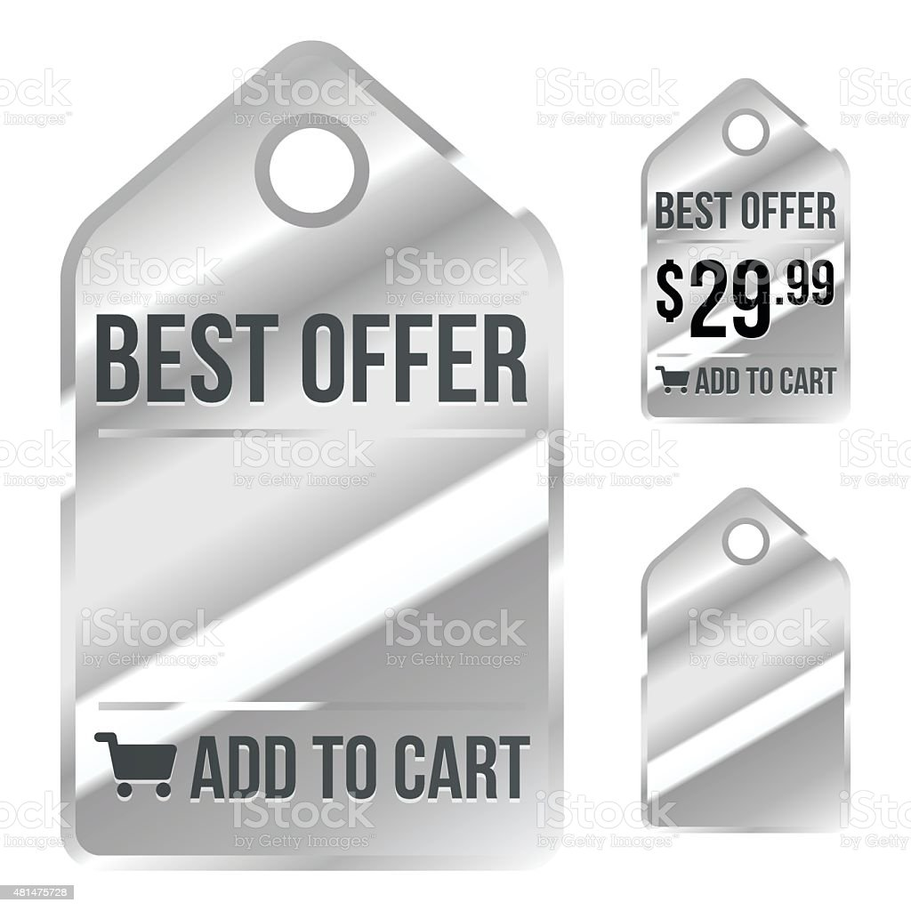 Chrome Price Label - Sale Tag - Add to Cart
