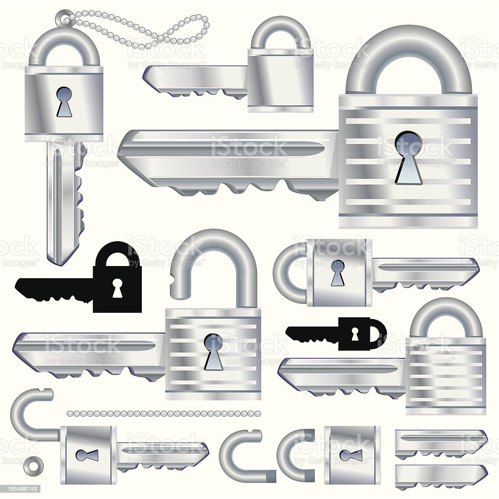 Chrome SecuraKey royalty-free chrome securakey stock vector art & more images of authority