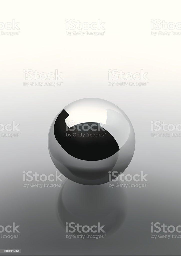 Chrome sphere grey vector art illustration