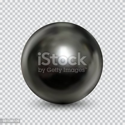 Chrome metal ball realistic isolated on white background. Spherical 3D orb with transparent glares and highlights for decoration. Jewelry gemstone. Vector Illustration for your design and business.