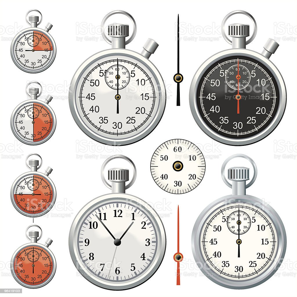 Chrome Stopwatch royalty-free stock vector art