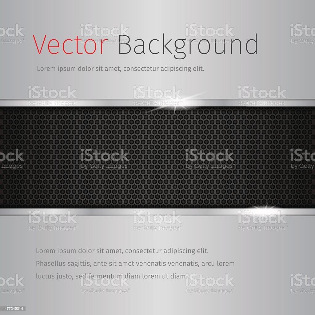 chrome vector background with dark pattern vector art illustration