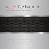 chrome vector background with dark pattern