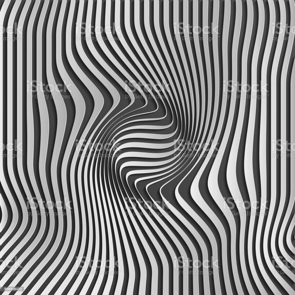 Chromium Abstract Silver Stripe Pattern Backgroundoptical