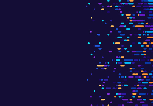Chromosome DNA Science and data technology digital abstract DNA gel run background design.
