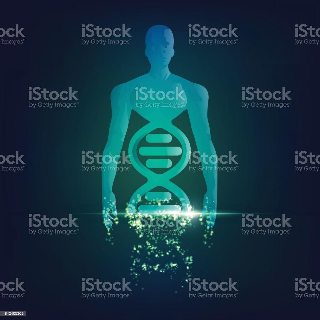 chromosomeMan vector art illustration