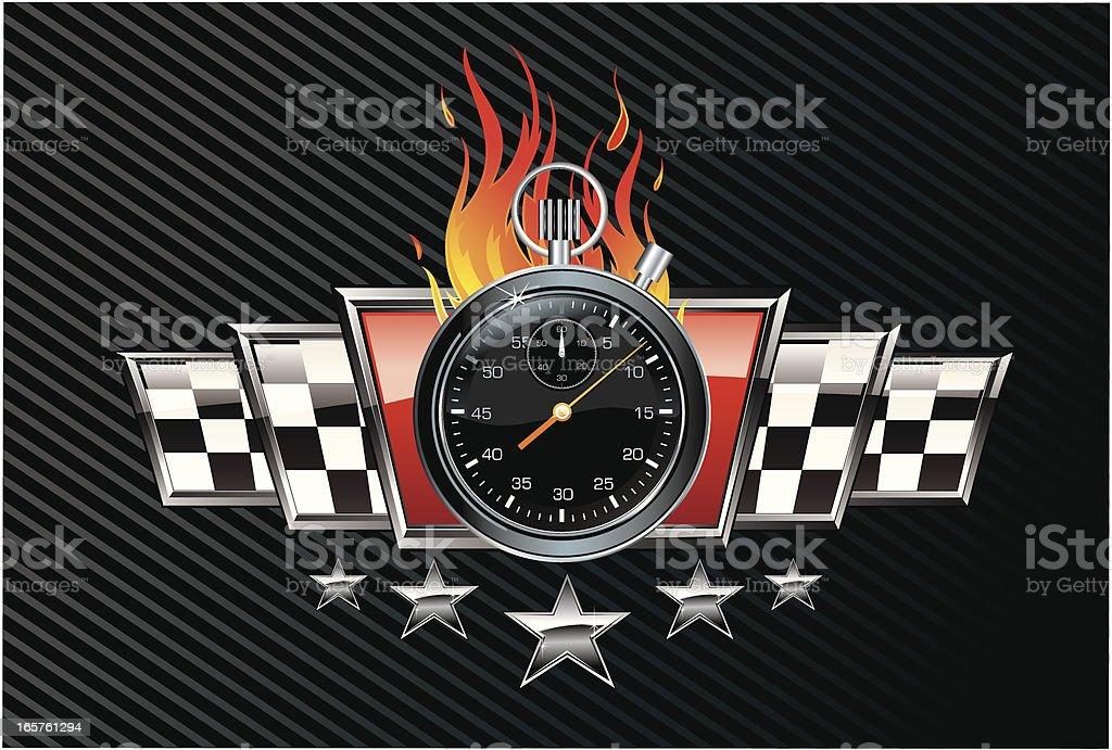 Chrono Racing Emblem vector art illustration