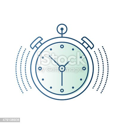 Thin line icon timer or chronometer symbol for time concepts and compositions. Modern style vector illustration concept.