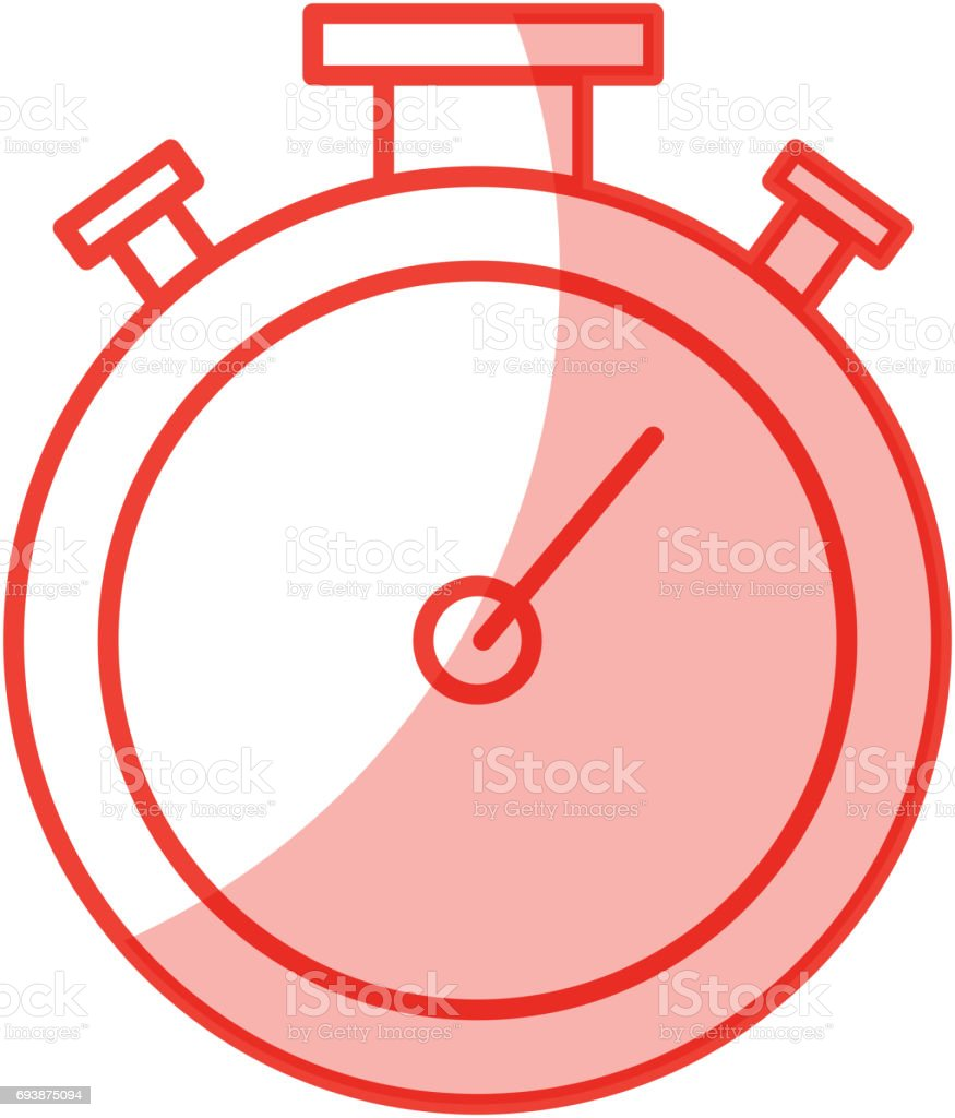 Chronometer Timer Isolated Icon Stock Illustration