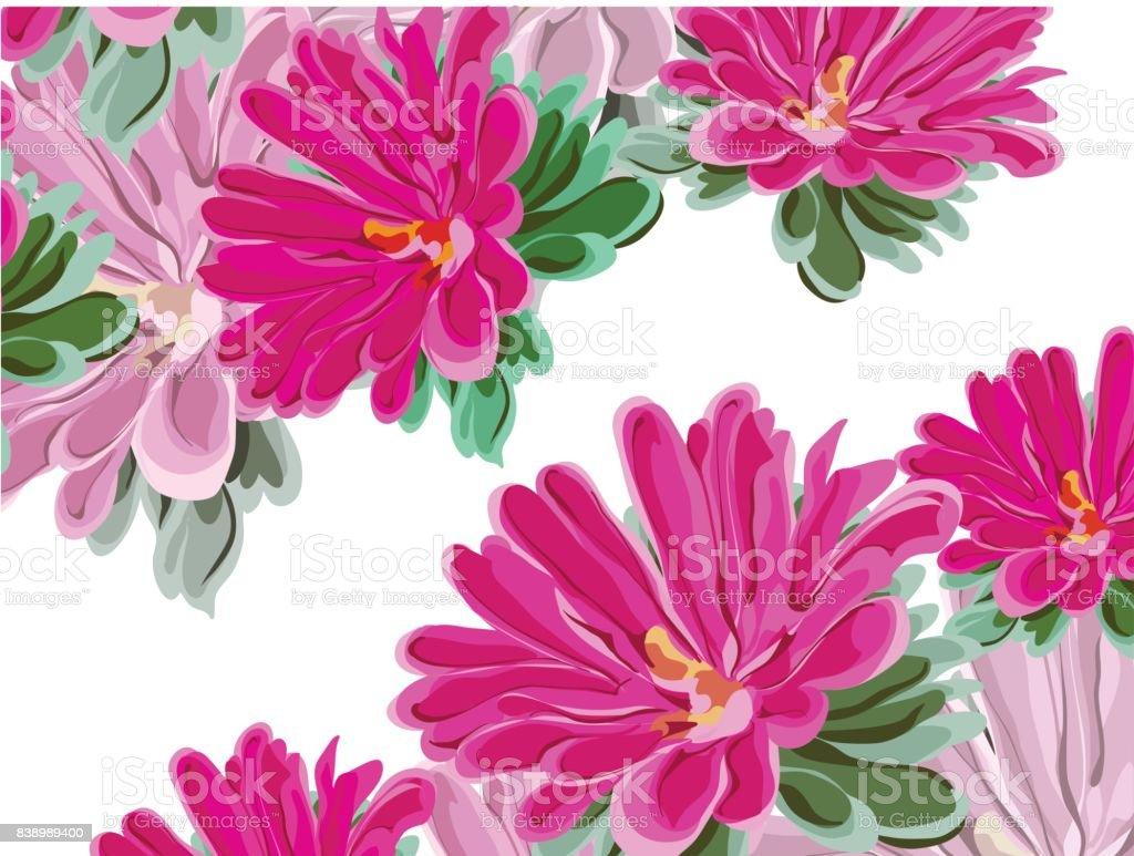 chrysanthemum balkony diagonal vector art illustration