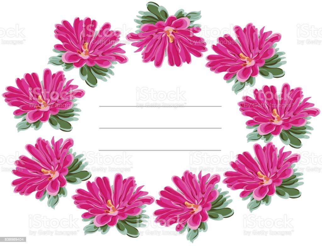chrysanthemum balkony frame first vector art illustration