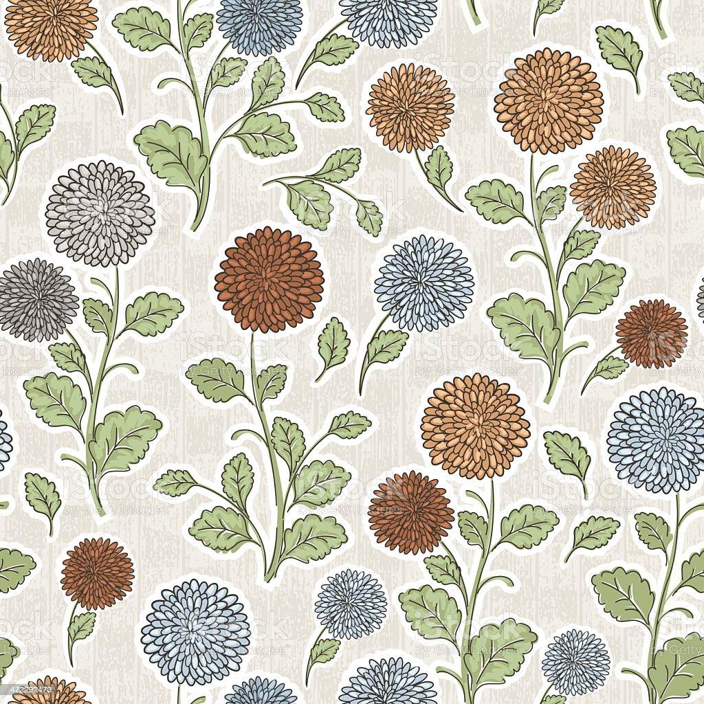 Chrysanthemum Flower Pattern royalty-free stock vector art
