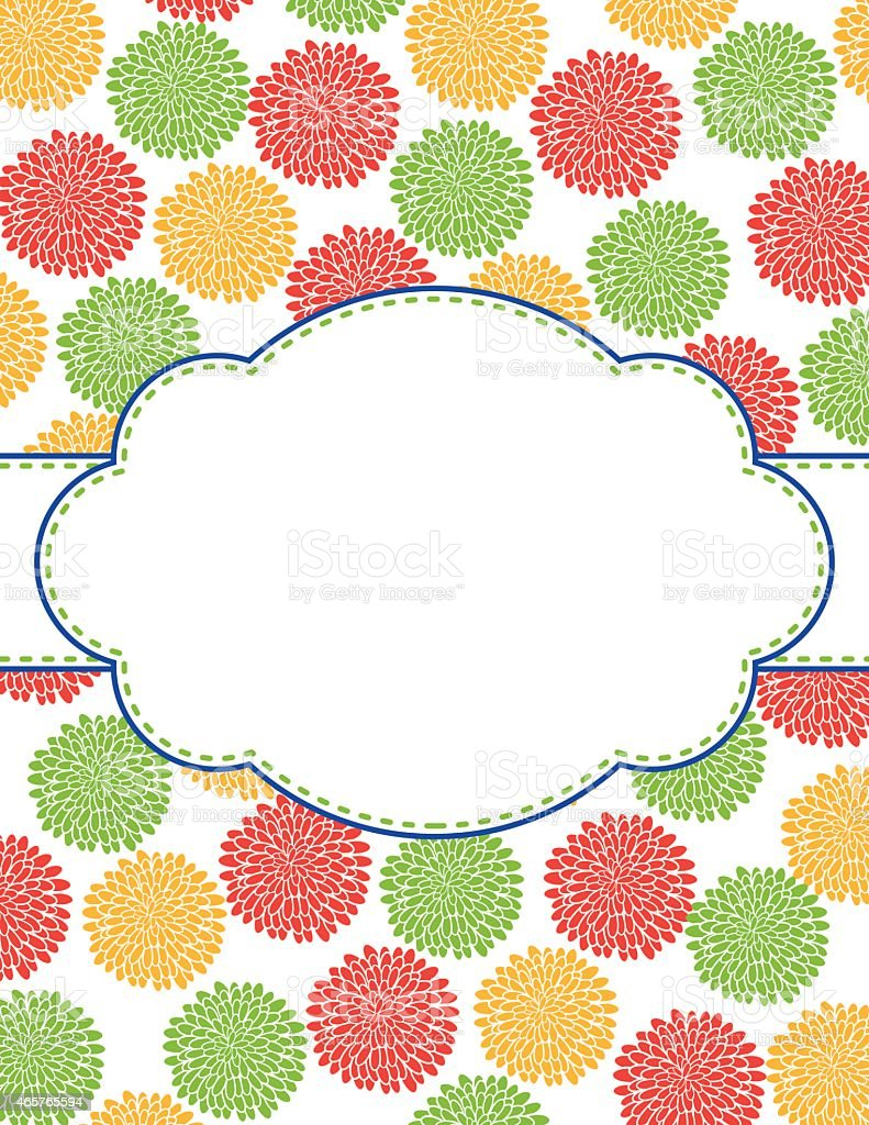 Chrysanthemum Oval Design Frame Template Stock Vector Art & More ...