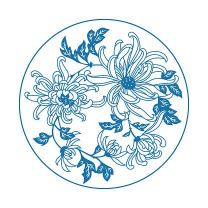 Chrysanthemum(China paper-cut patterns)