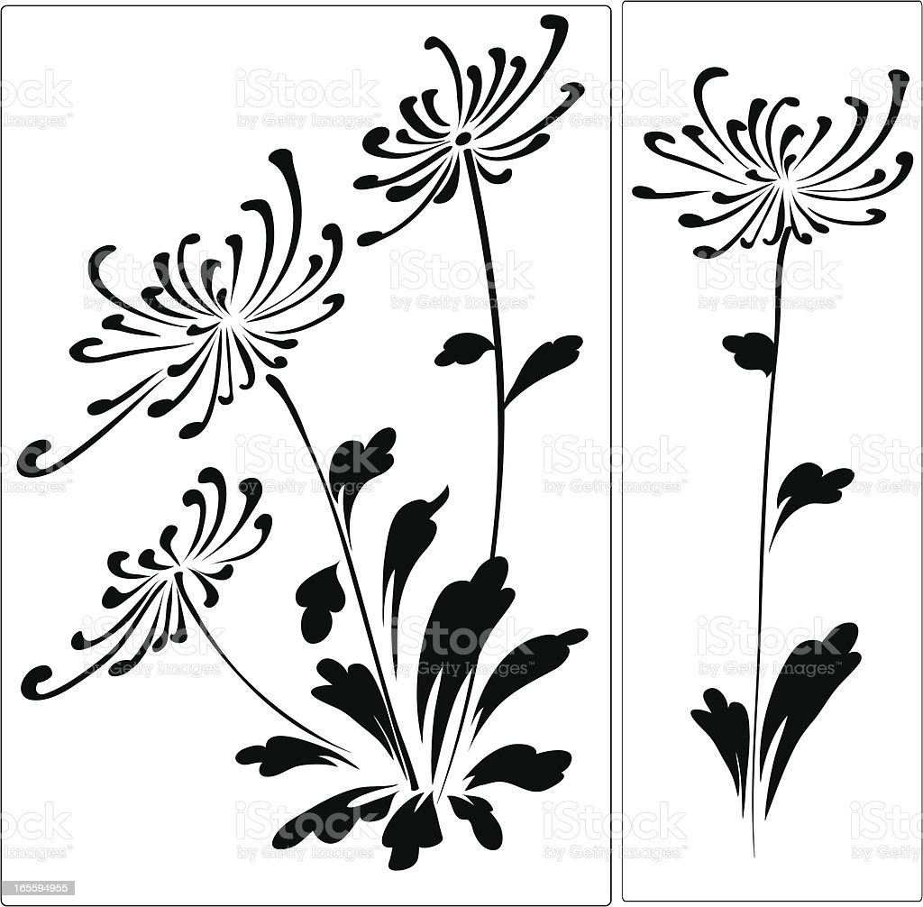 Chrysanthemum royalty-free stock vector art