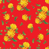 Chrysanthemum flower pattern