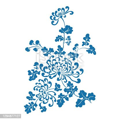 istock Chrysanthemum,Chinese traditional floral pattern 1294877127