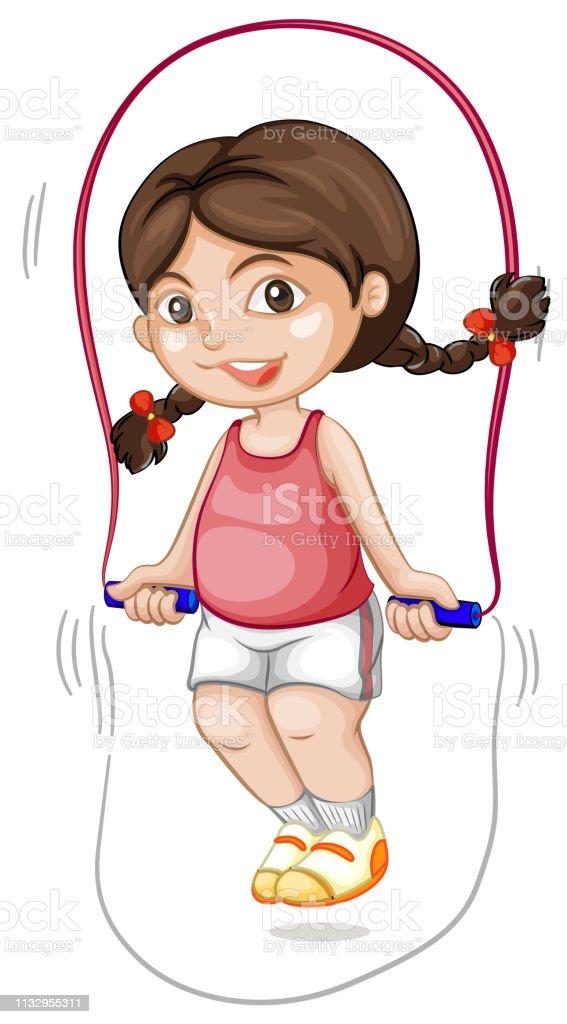 ロープを飛ばすぽっちゃり女の子 アイコンのベクターアート素材や画像を多数ご用意 Istock