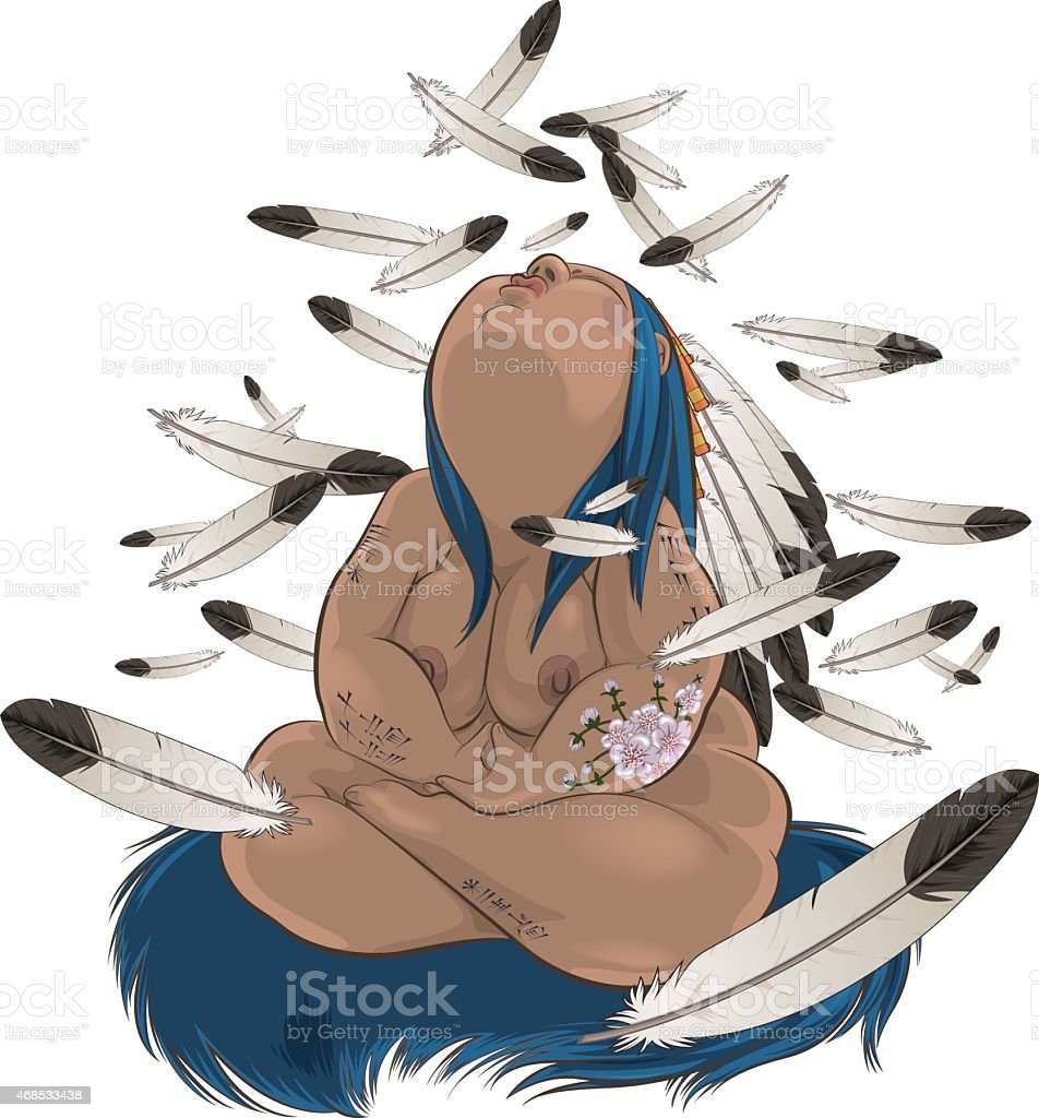 chubby shaman illustration of shaman bbw stock vector art & more