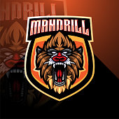 Illustration of Mandril esport mascot logo design