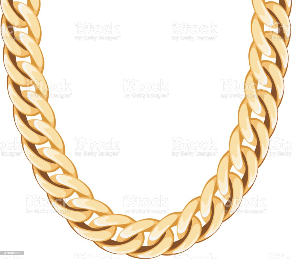 Chunky Chain Golden Metallic Necklace Or Bracelet Stock ...  Chain Vector