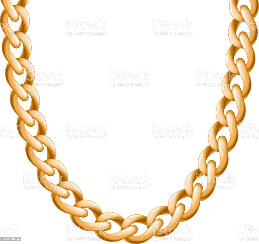 chunky chain golden metallic necklace or bracelet stock