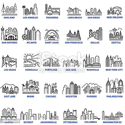 istock Chunky Style US Cityscapes 896458428