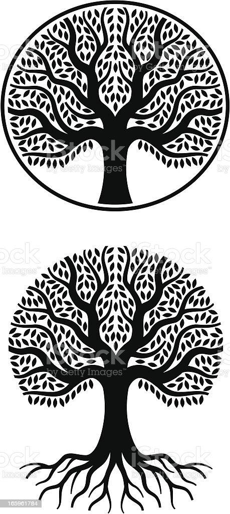 Ilustración De Expositor Enorme árbol De La Vida Y Más Banco De