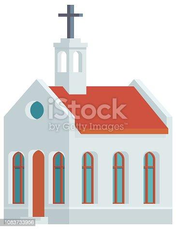 istock Church Building Vector Icon 1083733956