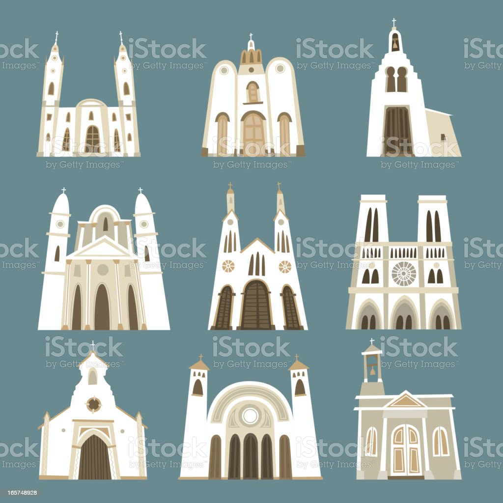 Church cathedral temple oratory chapel basilica sanctuary front view collection royalty-free church cathedral temple oratory chapel basilica sanctuary front view collection stock vector art & more images of american culture