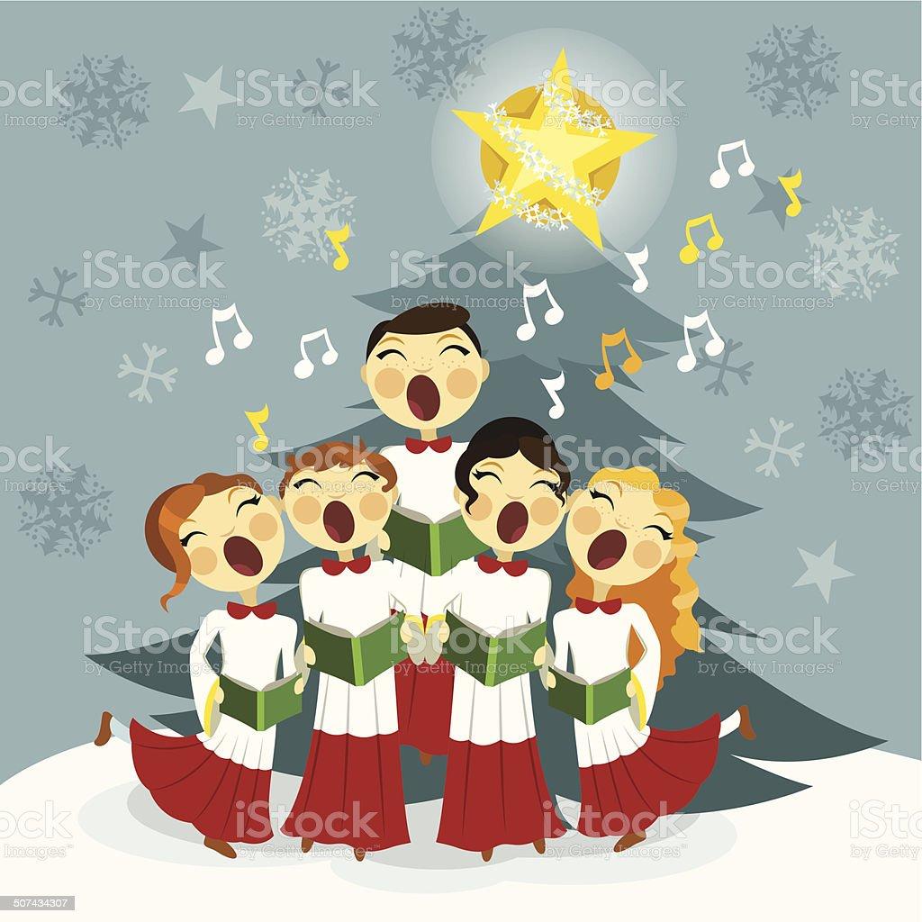 Christmas Choir.Church Christmas Choir Stock Illustration Download Image