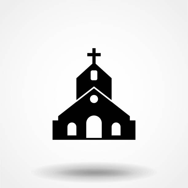 Church icon. Flat design style. vector church icon icon illustration isolated on white background, graphic design vector symbols. Eps10 Church icon. Flat design style. vector church icon icon illustration isolated on white background, graphic design vector symbols. Eps10 church stock illustrations