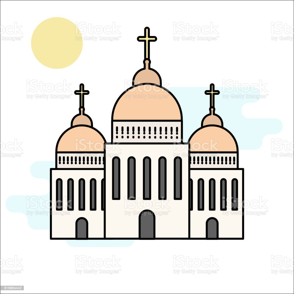 Church icon isolated on white background vector illustration for church icon isolated on white background vector illustration for religion architecture design cartoon church biocorpaavc Image collections