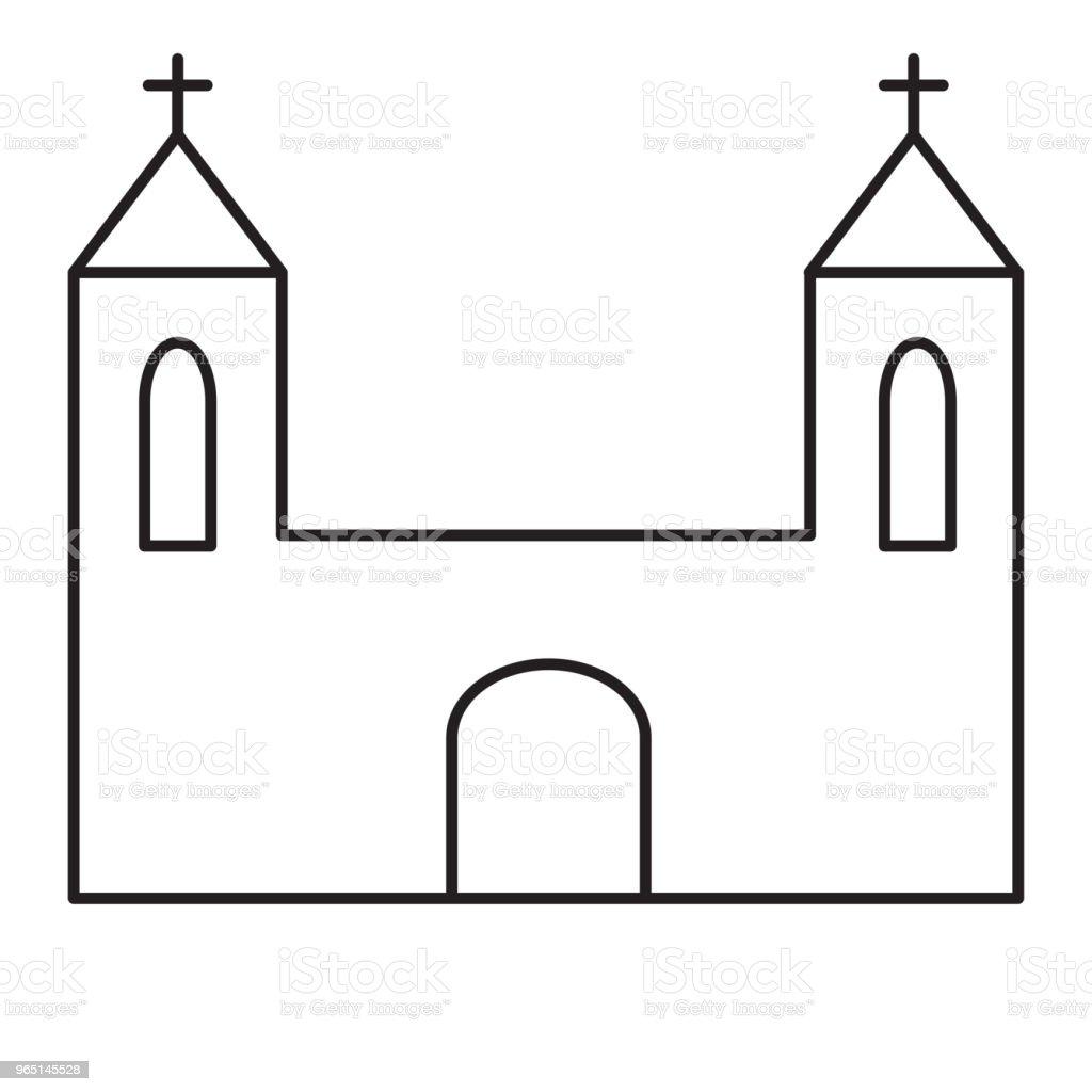 church line icon church line icon - stockowe grafiki wektorowe i więcej obrazów architektura royalty-free