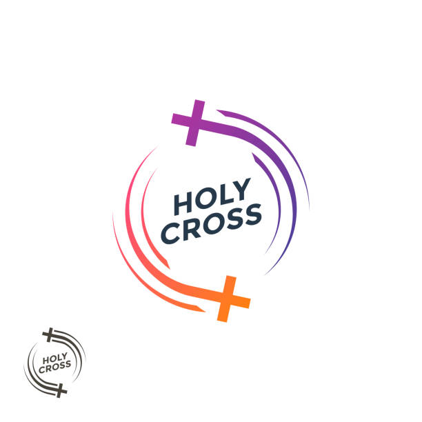 Church logo. . The Holy Cross christian logo. Church logo. . The Holy Cross christian logo. Vector illustration gospel choir stock illustrations