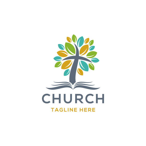 church logo church logo church stock illustrations