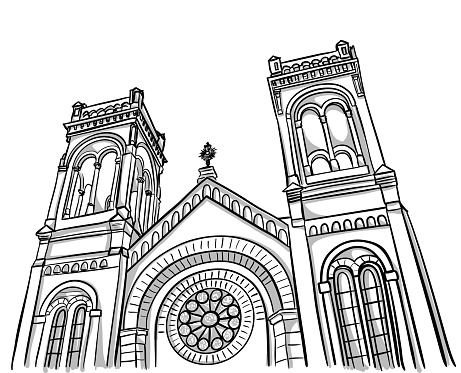 Church Low Angle Sketch