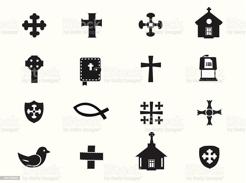 Church & Religion Icons vector art illustration