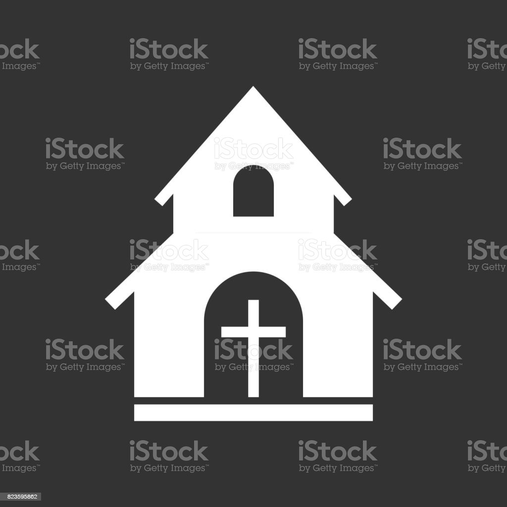 教会の聖域ベクトル イラスト アイコンビジネスマーケティング携帯