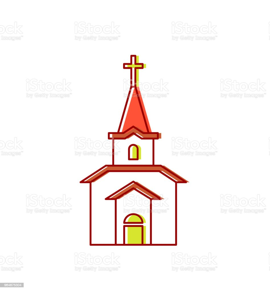 Church sign Catholic Christian house religion. Vector illustration royalty-free church sign catholic christian house religion vector illustration stock vector art & more images of architecture