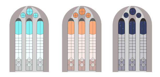 教会のステンドグラス ベクターアートイラスト