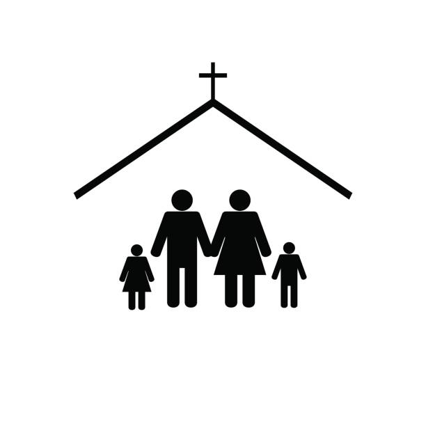 Top 60 Family Church Clip Art Vector Graphics And Illustrations