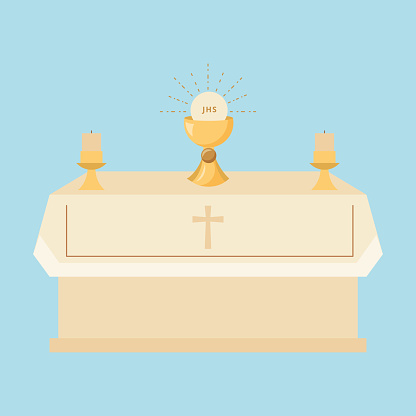 church with body Christ. vector