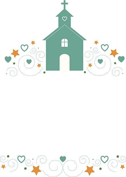Igreja com ilustração de padrão - ilustração de arte vetorial