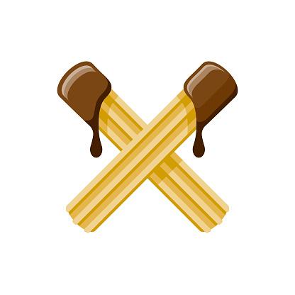 Churros Flat Design Dessert Icon