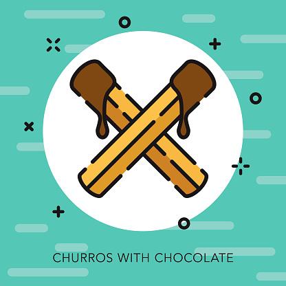 Churros Open Outline Cinco de Mayo Icon