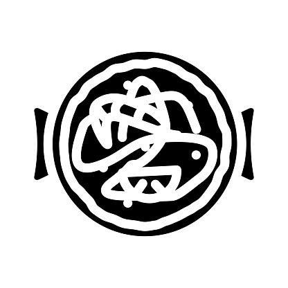 churros spain snack glyph icon vector illustration