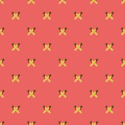 Churros Sweet Desserts Seamless Pattern