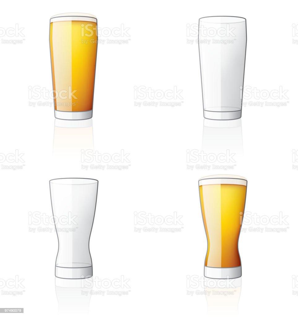 Cider Glas Icon-Set. Design-Bausteine – Vektorgrafik