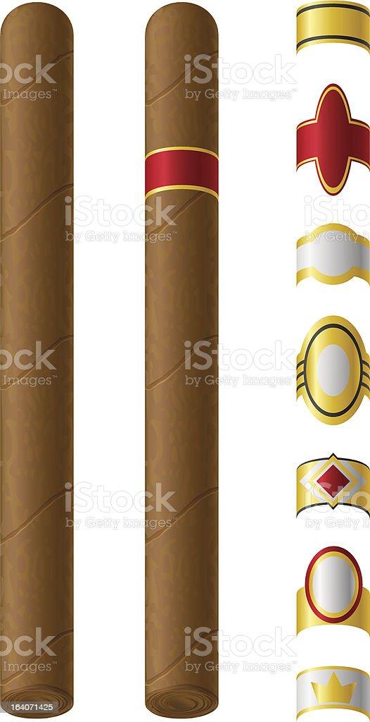 cigar labels for them vector illustration vector art illustration